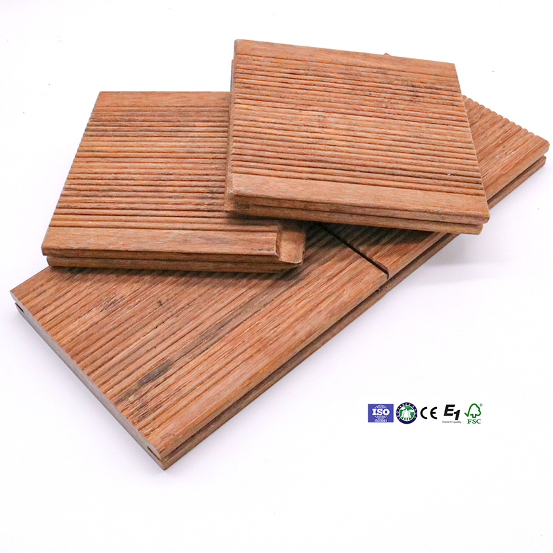 20mm engineered longboard bamboo deck with interlocking design for outdoor wood decking tiles