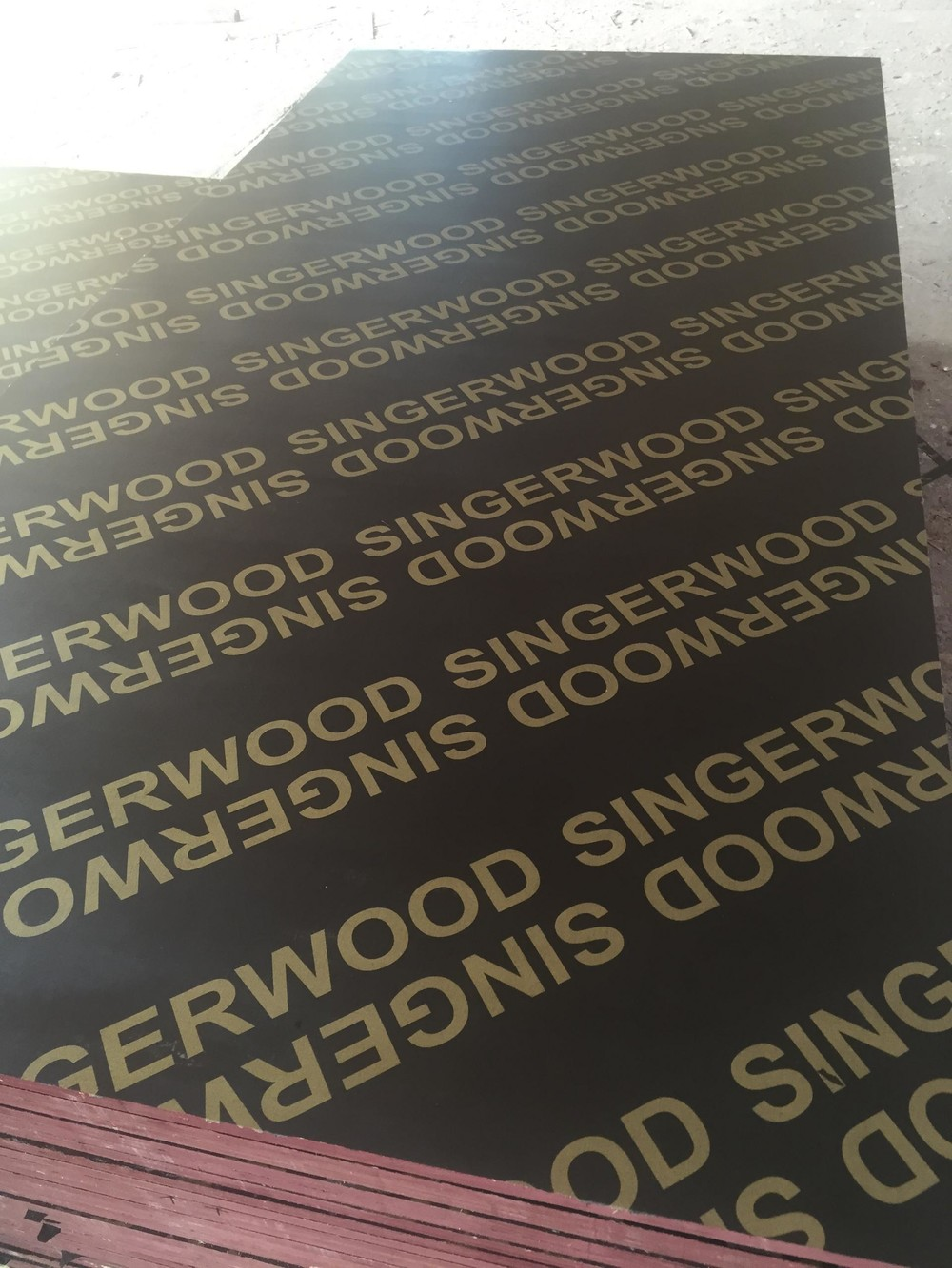 8*4 feet recycle finger jointed black film faced shuttering plywood
