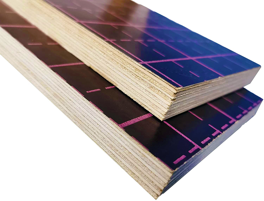 high quality custom print film faced plywood / round concrete template for construction