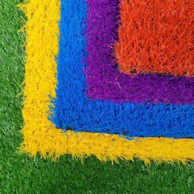 Artificial turf kindergarten rainbow runway outdoor sculpture artificial turf carpet color fake turf simulation turf