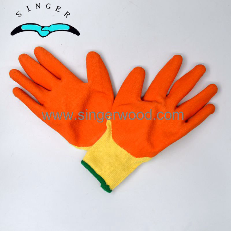Anti-cut pu palm half coated gloves for clean room workers