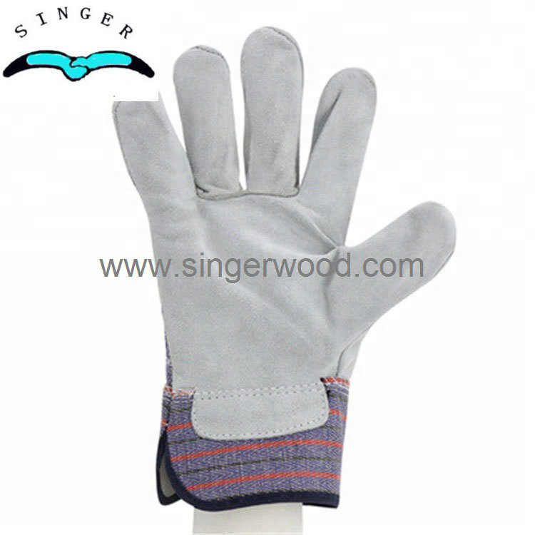 Cowhide Split Leather Work Gloves,double palm Welding Hand Gloves