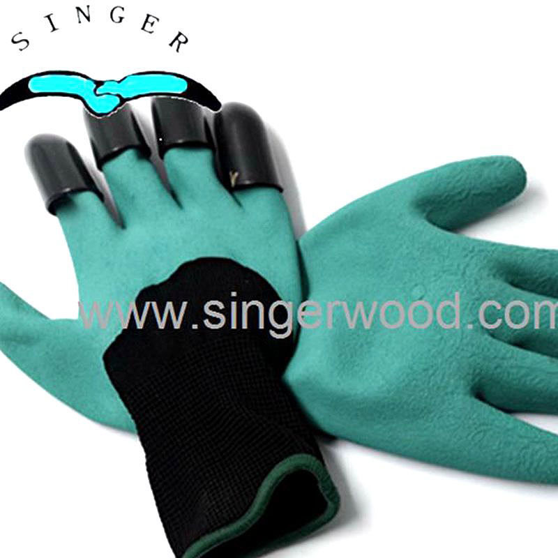 Garden Gloves with 8 Fingertips Claws, Gardening Genie Gloves Quick and Easy for Digging Planting Weeding Seeding Without other
