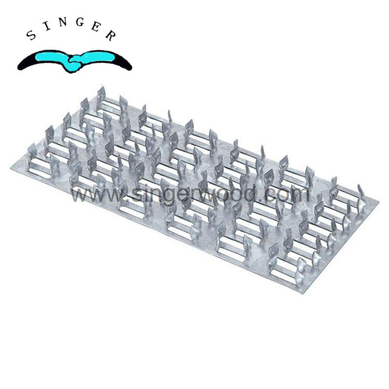 Galvanized connectors stamping wooden building construction truss nail plate